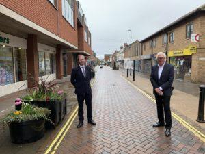 New ONE Haverhill Partnership chairman Andy Hunter with predecessor John Mayhew