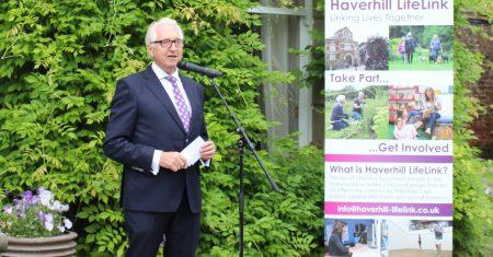 John Mayhew at Volunteer Garden Party